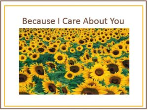 Because I Care About You card picture