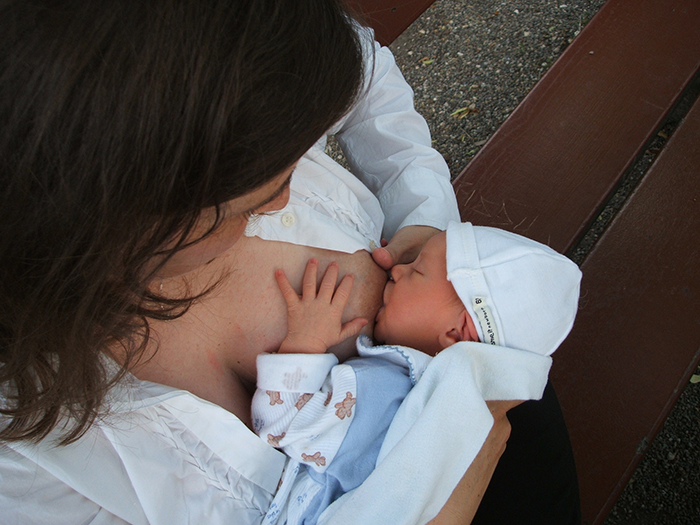 Breastfeeding an infant -Breaststart Mendocino